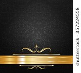 black and gold label background ... | Shutterstock .eps vector #357224558