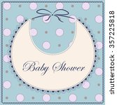 vector card baby shower with... | Shutterstock .eps vector #357225818