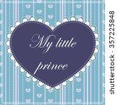 vector my little prince card | Shutterstock .eps vector #357225848