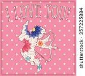 vector happy valentine day card ... | Shutterstock .eps vector #357225884
