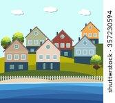 beach houses for sale   rent.... | Shutterstock .eps vector #357230594