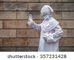 street performance of actor... | Shutterstock . vector #357231428