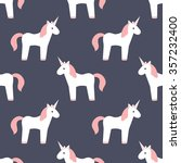 seamless pattern. unicorn.... | Shutterstock .eps vector #357232400