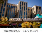 chicago train in the downtown... | Shutterstock . vector #357241064