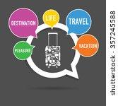 speech bubble vector with... | Shutterstock .eps vector #357245588