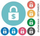 flat locked money icon set on...