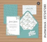 template wedding invitation and ... | Shutterstock .eps vector #357247280