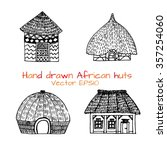 hand drawn set with sketch of... | Shutterstock .eps vector #357254060