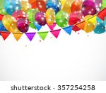 color glossy balloons... | Shutterstock .eps vector #357254258