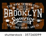 brooklyn sport superior south... | Shutterstock .eps vector #357260099