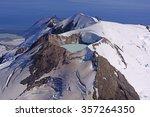 Caldera Lake in an Active Volcano on Mount Douglas in the Alaska Peninsula of Alaska