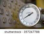 thermometer gauge in production ... | Shutterstock . vector #357267788