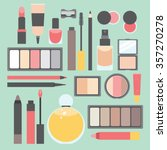 makeup items flat vector... | Shutterstock .eps vector #357270278