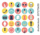 fashion and beauty flat icon set | Shutterstock .eps vector #357270650