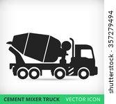 Cement Mixers Truck Flat Vecto...