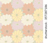 floral pattern in pastel colors.... | Shutterstock . vector #357287186