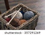 Knitting Needles And Yarn Ball...