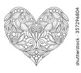 Decorative Love Heart. Vector...