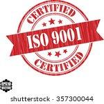 iso 9001 grunge rubber stamp ...   Shutterstock .eps vector #357300044