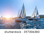 luxury yachts at sailing... | Shutterstock . vector #357306383