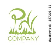 p and h company linked letter... | Shutterstock .eps vector #357308486