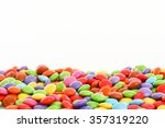 colorful smarties bordering...