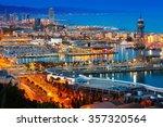 Top View Of Port In Barcelona...
