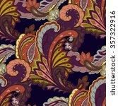 paisley seamless pattern.... | Shutterstock .eps vector #357322916