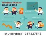 infographics workplace... | Shutterstock .eps vector #357327548