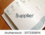 supplier text concept write on... | Shutterstock . vector #357330854