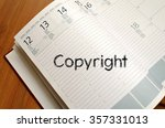 copyright text concept write on ... | Shutterstock . vector #357331013