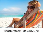 young lady relaxing in the... | Shutterstock . vector #357337070