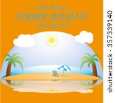 beach ocean | Shutterstock .eps vector #357339140