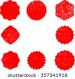 grunge post stamps collection ... | Shutterstock .eps vector #357341918
