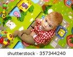little boy with big blue eyes... | Shutterstock . vector #357344240