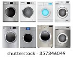 washing machine. vector... | Shutterstock .eps vector #357346049