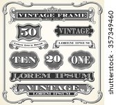 vintage labels  frames and... | Shutterstock .eps vector #357349460