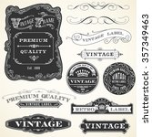 vintage labels and ornaments  ... | Shutterstock .eps vector #357349463