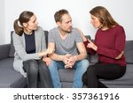 three persons having an argument | Shutterstock . vector #357361916