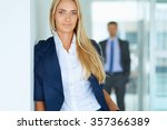 portrait of young businesswoman ... | Shutterstock . vector #357366389
