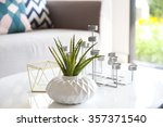 green plant in a vase and... | Shutterstock . vector #357371540