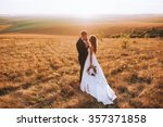 beautiful wedding couple in the ... | Shutterstock . vector #357371858
