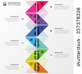 infographics timeline. colorful ... | Shutterstock .eps vector #357378338