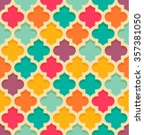 vintage oriental quatrefoil... | Shutterstock .eps vector #357381050