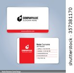 white and red modern business... | Shutterstock .eps vector #357381170
