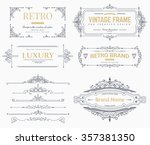 collection of vintage patterns.... | Shutterstock .eps vector #357381350