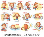 verbs of action in pictures ... | Shutterstock .eps vector #357384479