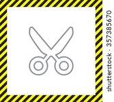 vector scissors line icon | Shutterstock .eps vector #357385670