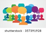 icons of people with speech... | Shutterstock .eps vector #357391928