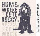 vector hand drawn typography... | Shutterstock .eps vector #357394088
